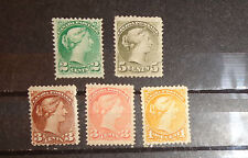 Canada stamp lot small queens mint NG and or used light cancel