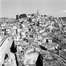 MATERA c. 1960 - Vue sur le Village  Italie - Négatif 6 x 6 - ITAL 483