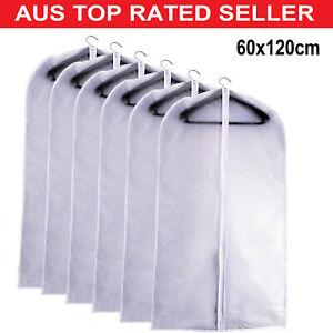 Hanging Moth Proof Garment Bag Cover Breathable Bags Full Zipper for Suit Cloth