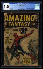 Amazing Fantasy #15 CGC Fair 1.0 Off White 1st Spider-Man!