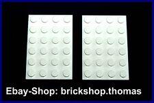 Lego 2 x Platte Grundplatte weiß (4 x 6) - 3032 - White Plate - NEU / NEW