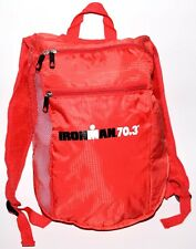 New Ironman Half Triathlon 70.3 Race Red Side Mesh 3-Pocket Zipper Backpack Bag