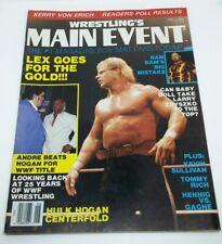 """WRESTLING'S MAIN EVENT"" Magazine, ""LEX LUGER"" Issue, June, 1988, RARE!"