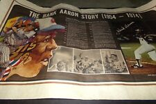 Vintage Hank Aaron Baseball Poster The Hank Arron story w Home Run Log 1954-74