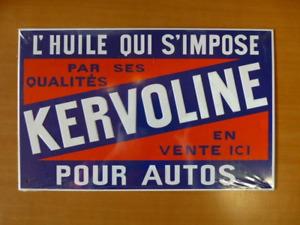 PB8 PLAQUES PUB tolée L'age d'or de l'Automobile : KERVOLINE 30*19 cm n°58