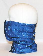 Multi use Biker Blue Water Cycling Neck Tube Scarf Snood Face Mask Warm Bandana