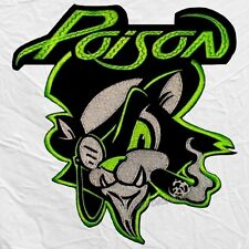 Poison Cat Logo Embroidered Big Patch Back Rock Band Bret Michaels Rikki Rockett