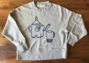 GORMAN *Monika Forsberg* Embroidered Elephant Grey Jumper/Sweatshirt  6 -relaxed