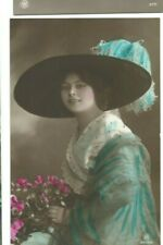 Glamour Postcard of a Lady With Large Hat.