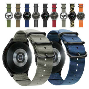 Quick Release Military Nylon Watch Band Strap For Samsung Galaxy Watch 4 Classic