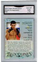 2013 Khabib Nurmagomedov Topps UFC  Bloodlines Gem Mint 10 #KN