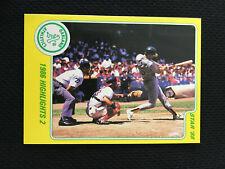 MARK MCGWIRE ROOKIE ODD BALL YELLOW BORDER STAR 1988 HIGHLIGHT A'S BASEBALL CARD