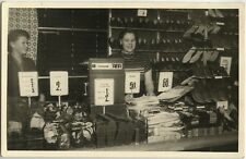 PHOTO ANCIENNE - CARTE PHOTO - CPA - MAGASIN CHAUSSURE CHAUSSEUR CAISSE - SHOES