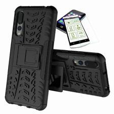 Für Huawei P20 Pro Hybrid Case Tasche Outdoor 2teilig Schwarz Hülle + H9 Glas