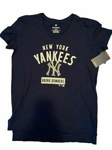 NWT Fanatics NY YANKEES Bling T-Shirt TOP Bronx Bombers Women's SMALL Sparkle