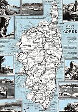 br29987 corse france map cpsm