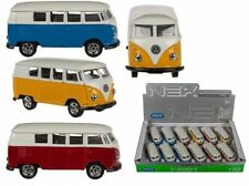 DIE CAST 1963 VOLKSWAGEN T1 CAMPER BUS 1:60 SCALE MODEL VARIOUS COLOURS BY WELLY