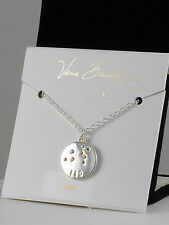Vera Bradley Silvertone LEO Crystal Zodiac Constellation Disc Necklace 15506-237