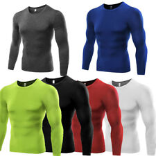 UK Men Compression Long Sleeve T Shirt Body Gym Fit Base Thermal Layer Top