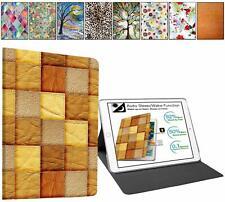 "DuraSafe Case iPad 10.2"" [ A2200 A2198 A2197 ] Printed Folio Brown Patchwork +"