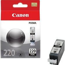 2-PACK GENUINE CANON PIXMA 220 PGBK PGI-220BK Black Ink Cartridges OEM MX860