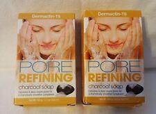 Dermactin-Ts Pore Refining Charcoal Bar Soap - Lot of 2 - Nib