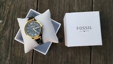 Damen Armband Uhr Fossil Es 3148 Georgia Schwarz Gold