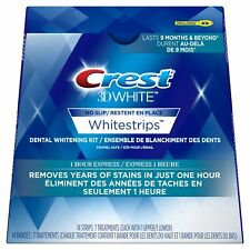 Crest3D Whitestrips 1 HOUR EXPRESS BEST PRICE AVAILABLE 14 STRIPS (7 POUCHES)