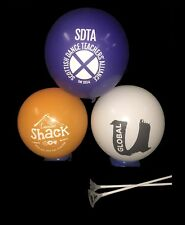 100 CUSTOM PRINTED BALLOONS WITH 2 PIECE BALLOON STICKS Personalised Promotional