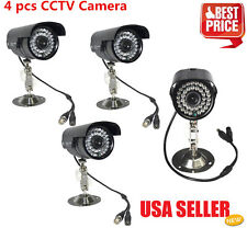 4pcs 1200TVL High Resolution CCTV Surveillance Security Waterproof Camera IR-Cut
