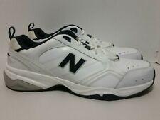 11be55b5a3d00 New Balance MX624WN2 Men's 624 White/Navy Leather Training Shoes Sz 19D