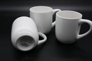 Mainstays Coffee Cups Set of 3 Plain White