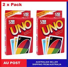 2 x Pack UNO CARDS Traditional Family Playing Card Educational Theme Board Game