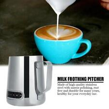 600ml Thermometer Stainless Steel Milk Frothing Jug Frother Coffee Latte Pitcher
