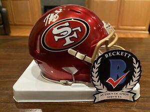 Patrick Willis Autographed San Francisco 49ers Flash Mini Helmet Beckett #3