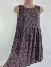MANGO ditsy floral garden print crepe fit & flare mini tunic dress size XS 6 - 8
