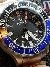 DAYNIGHT TRITDIVER T-100 AUTOMATIC BLACK/BLUE/BEZEL-BLACK DIAL(free gift)