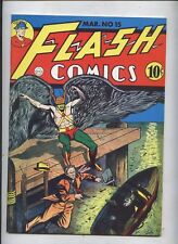FLASH #15 Flashback Golden Age Comic Reprint  #36 HAWKMAN COVER