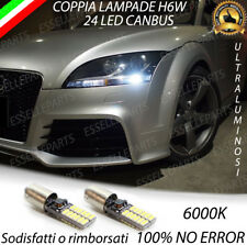 COPPPIA LUCI DI POSIZIONE 24 LED H6W CANBUS AUDI TT 8J 6000K BIANCO NO AVARIA
