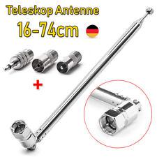 74cm Teleskop Antenne Ersatz F Stecker DAB UKW Radio FM AM Auto Audio 3,5mm PAL