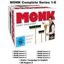 MONK Complete Series 1-8 Seasons 1 2 3 4 5 6 7 8 Box Set [32 DVD] Tony Shalhoub