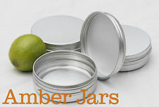 10x 100ml Aluminium Jar with Wadded Lid  Candle Jar, Beard Balm Jar, FREE POST