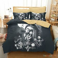 The Nightmare Before Christmas Jack Family Bedding Duvet Cover Queen Size 3PCS