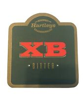 Hartleys XB Bitter Beer Coaster 2 Sided Bar Man Cave Never Used NOS