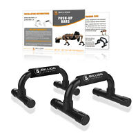 Push Up Bars Press Pull Stand Exercise Fitness Home Gym Strength Training Office