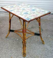 Vintage Spotted Cane Occasional Table