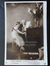 La Lecon De Clavecin, Old Postcard showing Young Girl Playing Piano - Noyer 131