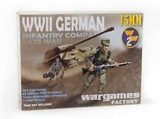 15MM GERMAN INFANTRY COMPANY LATE WAR - WARGAMES FACTORY- WW2 FLAMES OF WAR