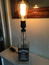 Steampunk / Vintage Lamp Made From A Jack Daniels Bottle Home Bar Study F/Ship