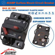 40a Amp Circuit Breaker Dual Battery Manual Reset Ip67 W/proof 12v 48 Volt Fuse